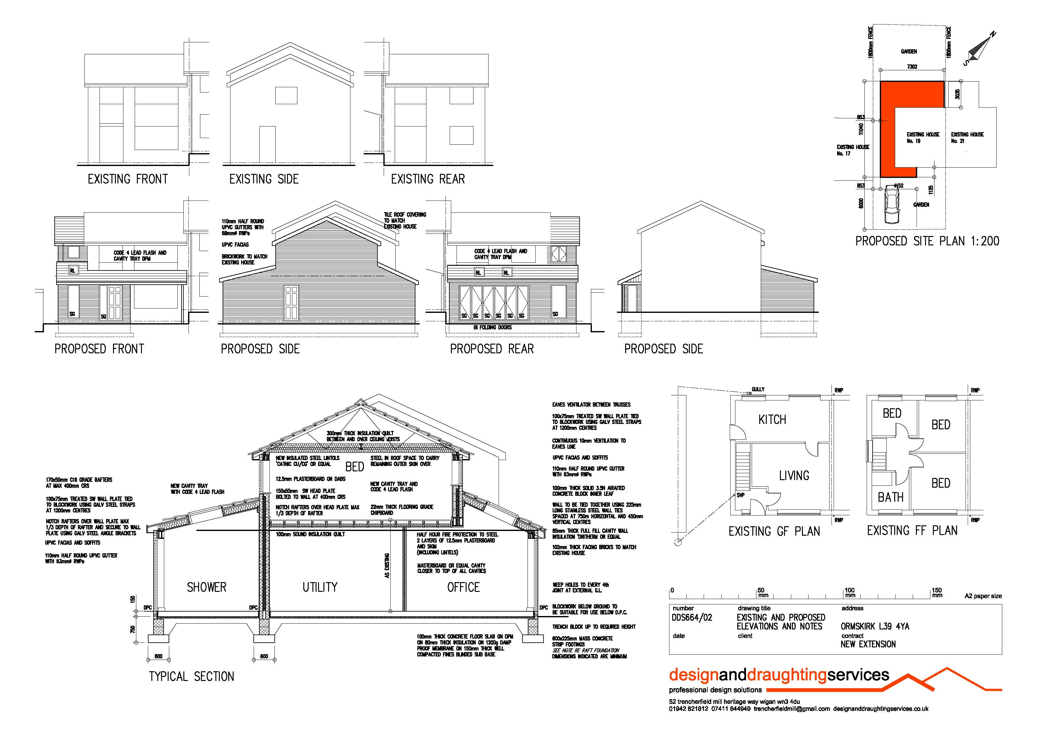 Plans Drawn For Home Extensions And Alterations